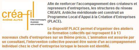 Programme PLACE